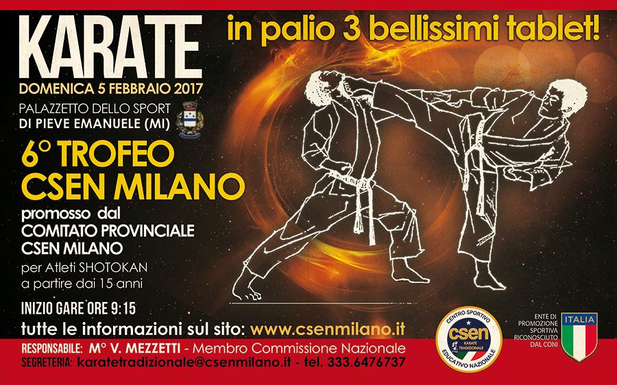6° Trofeo Csen Milano Di Karate Tradizionale
