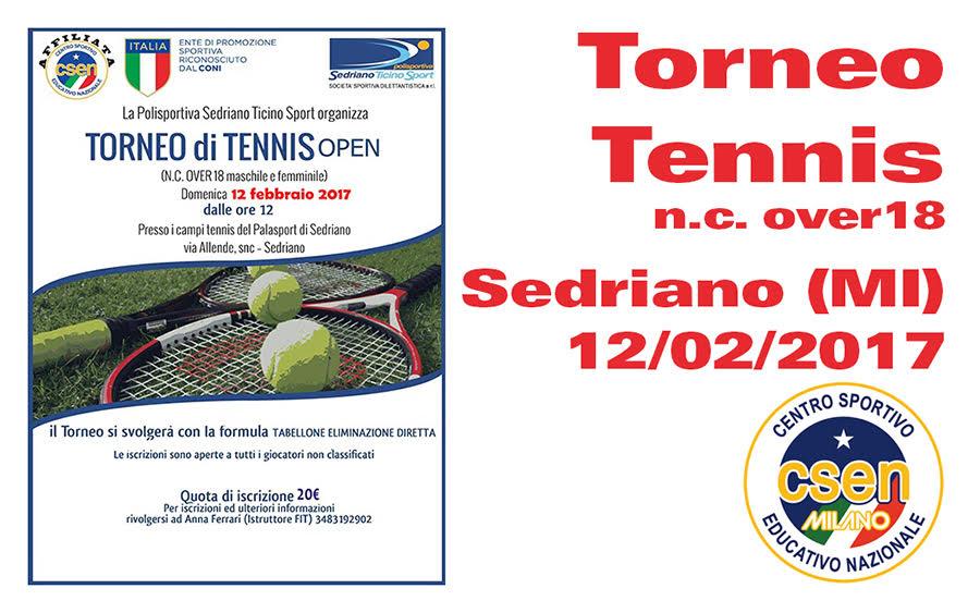 Tennis: Torneo Open Alla Polisportiva Sedriano Ticino Sport